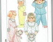 Toddlers One Piece Footie Pajamas - Two-Piece Pajamas and Pajama Bag - Unused Pattern - Uncut Factory Folded Pattern - Serger Pattern