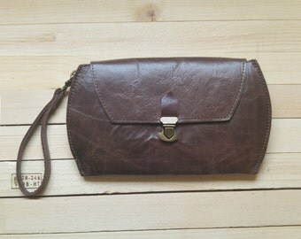Smartphone wallet clutch, Wallets for women, large wallet, iPhone case wallet, organizer purse, Phone wallet clutch, Leather wallet, for her