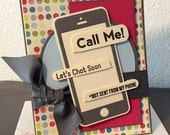 Any Occasion - Smart phone - Thinking of you -  Handmade Card