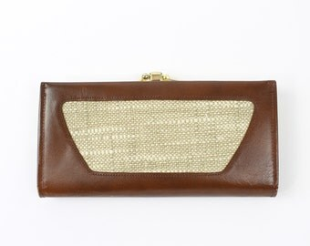VINTAGE Mid Century Wallet Brown Leather