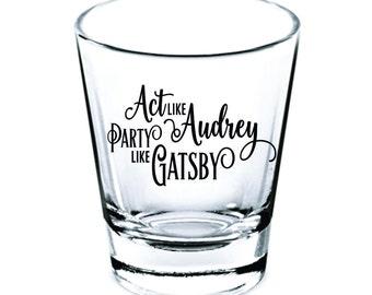 Wedding Shot Glasses - Wedding Favors - Party Favors - Hollywood Wedding Glasses - Best Wishes - Bachelorette Party - Custom Shot Glasses