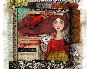 Write Your Own Fairytale Handmade Loose Canvas.