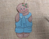 Gingerbread Boy Wooden Christmas Ornament