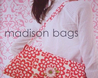 Summer Clearance Amy Butler Sewing Pattern Madison Bags with Free US Shipping