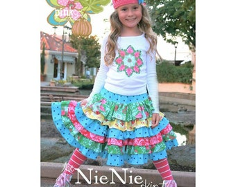 The Nie Nie Skirt Pattern by Pink Fig Patterns
