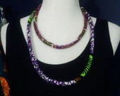 Bella Duafe Double Strand Anakra Print Necklace