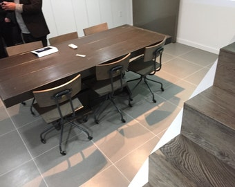 8 foot conference table / cross trestle