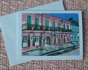 Note cards of original oil painting | Kristi Jones fine art | New Orleans Louisiana | blank cards paper | Melrose Plantation Pat O Briens