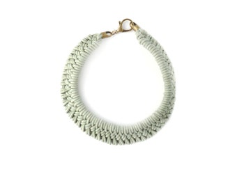 Tomales Necklace in Hand Dyed Cactus Green
