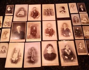 Lot of Cabinet Cards & CDV Photos from Scarce Girard Kansas Studio
