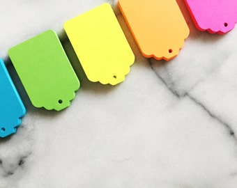 25 Neon Gift Tags
