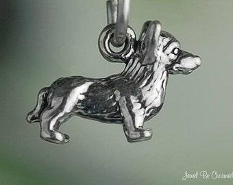 Corgi Charm Miniature Sterling Silver Dog Welsh Corgis Very Small Tiny
