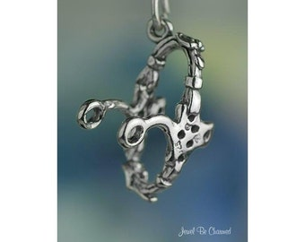 Hackamore Charm Sterling Silver Bitless Bridle Horse Tack Riding .925