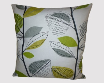 "Cushion Pillow Cover Lime Green Gray Designer Pillowcase Sham Slips Accent Throw Pillow. ONE x 16"" (40cm)"