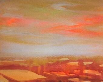 Landscape Series 1, Original Acrylic on Paper Painting