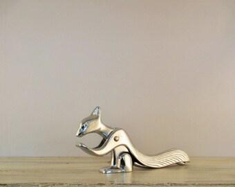 Vintage Silver Squirrel Nutcracker