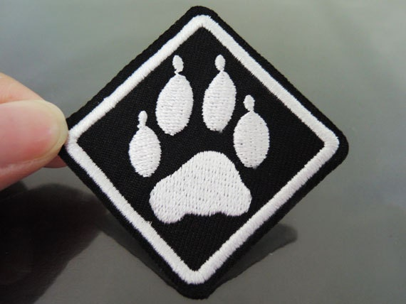 Paw Patches Iron On Patches Paw Print Patch Square Applique
