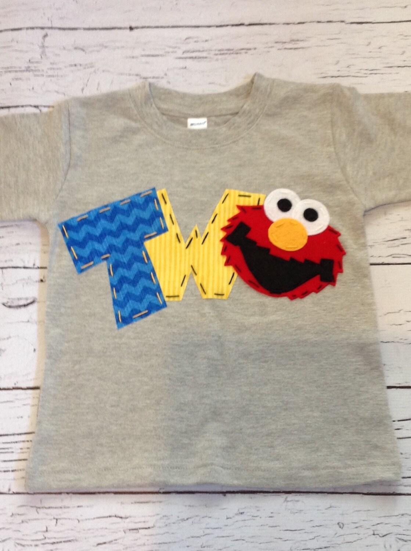 elmo birthday shirt two 2nd girl boy t shirt