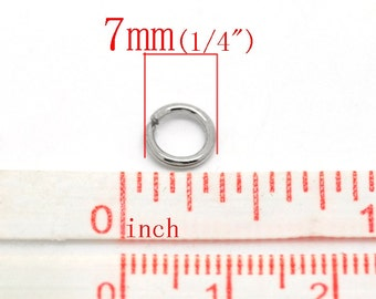 THICK - 100 pcs Stainless Steel Open Jump Rings 7mm - 16 Gauge - High Quality