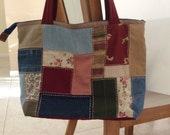 Reserved Listing for ciciromani - Fabric  Scraps tote bag- recycled Bag /quilted bag-fabric bag