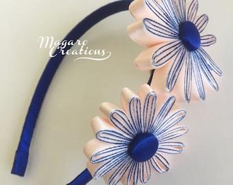 Bow headband,flower headband,girl headband,headband for girls,toddler headband,headband with flowers,headband,flower girl headband,17