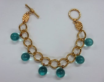 Gold Chain Bracelets With Vintage Dangles - Five Bracelets to Choose From - 25 Dollars Each