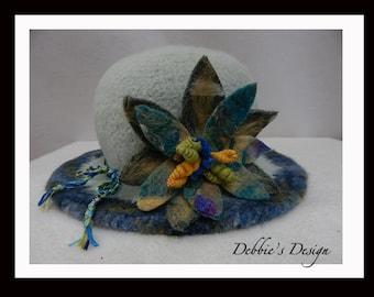 Women's Handmade Cloche Hat-92 Women's Felted Cloche Hat, Women's Cloche Hat, Women's Handmade Cloche, cloche felt hat, Downton abbey