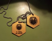 Custom BSG Inspired Dog Tags