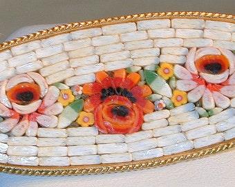Vintage Italy Mosaic Brooch