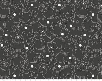 Bear Baby Blanket, minky baby blanket, bear constellation black, woodland nursery, gender neutral baby bedding