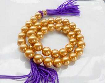 10mm Golden yellow shell based pearls
