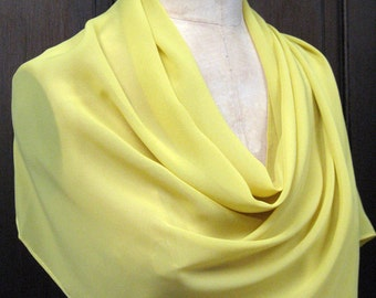 Soft Yellow Chiffon Shawl Wrap Scarf