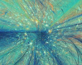 Desert Ocean - Digital Print on Canvas Paper
