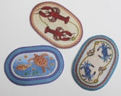 Miniature Rug Oval Braided Look Your Choice of Sea Creatures in 1:12 Scale
