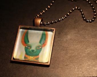 Anubis Original Fine Art Necklace