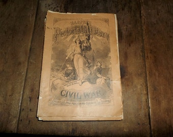 1894 Set of Harper's Weekly Pictorial Magazines of the Civil War - Vintage