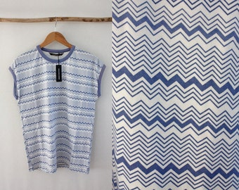 Norsea Industries Printed Zig Zag Stripe T shirt Size M