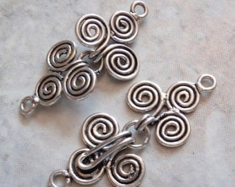 Sterling Silver Clasp Spiral Hook Qty. 1