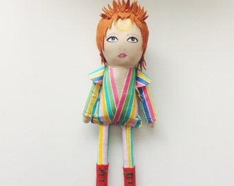 David Bowie Starman Ziggy Stardust doll