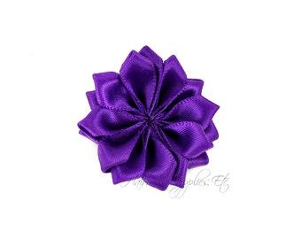 Purple Dainty Star Flowers 1-1/2 inch - Purple Fabric Flowers, Purple Hair Flowers, Purple Flowers for Hair, Purple Flowers for Headbands