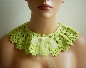 Hand made crochet collar, mothers gift accessories fashion summer handmade special design girl present