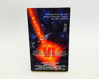 Vintage Sci Fi Book Star Trek VI: The Undiscovered Country Film Novelization 1992 1st Edition Paperback