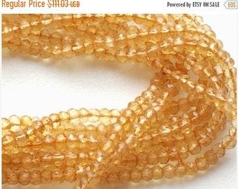 55% ON SALE WHOLESALE 5 Strands Citrine Beads, Citrine Israeli Beads, Citrine Faceted Rondelles, 3-3.5mm, 13 Inch Strand, Citrine Necklace