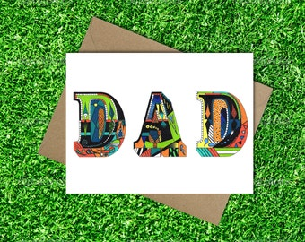 Dad's Greeting Card - Instant Download -