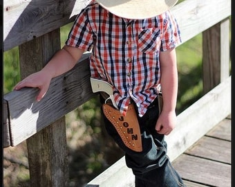 Custom Holster with Initials/Name & Kids Toy Pistol with Spots