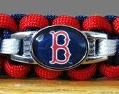 Boston Red Sox Bracelet, Paracord Bracelet, Survival Bracelet