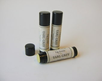Earl Grey Tea Lip Balm, Natural Beeswax Balm with Cocoa and Shea Butter
