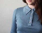 1960's robin's egg blue sweater