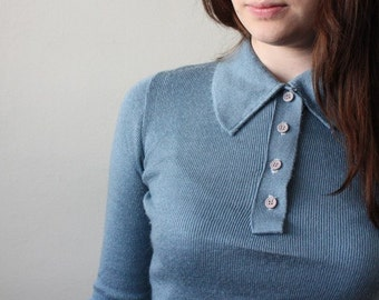 1960's robin's egg blue sweater