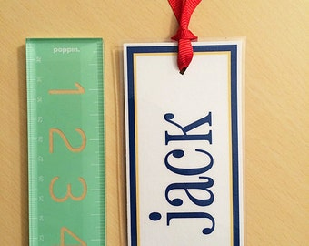 Personalized Bookmark, Paper Bookmarks, Custom Bookmark, Cute Bookmark, Boy Toddler, Toddler Gift, Toddler, Reading, Bookmark